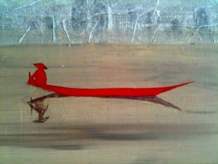 Du siehst ein Detail des Acrylbildes