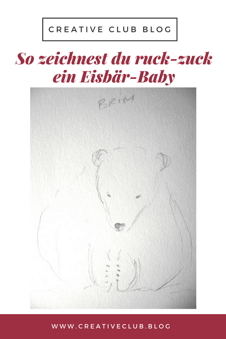 Bären zeichnen auf www.creativeclub.blog