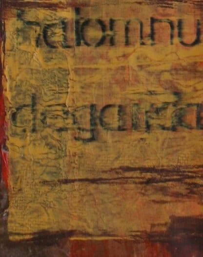 Man sieht das Detail eines Acryl-Bildes der Künstlerin Dodo Kresse