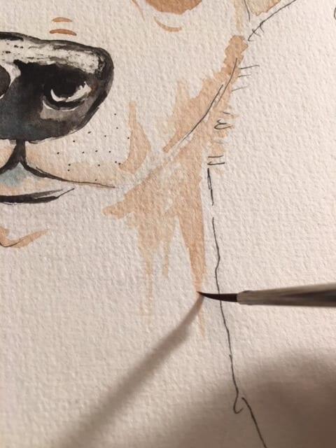 Du siehst wie ich die Farbschatten am Hals male