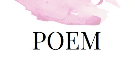 Du siehst ein Aquarell fließen und das Wort Poem