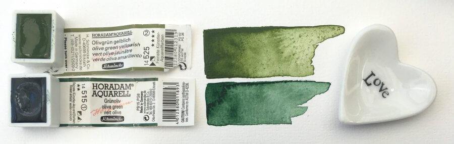 Grüne Aquarellfarbe von Schmincke