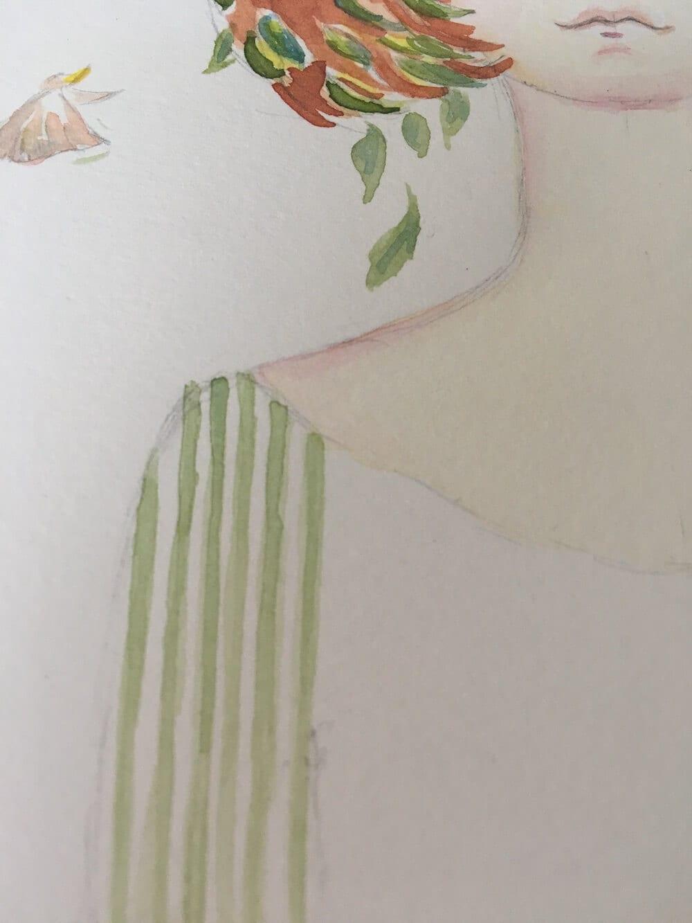 Man sieht ein Detail aus dem Bild Waldfräulein