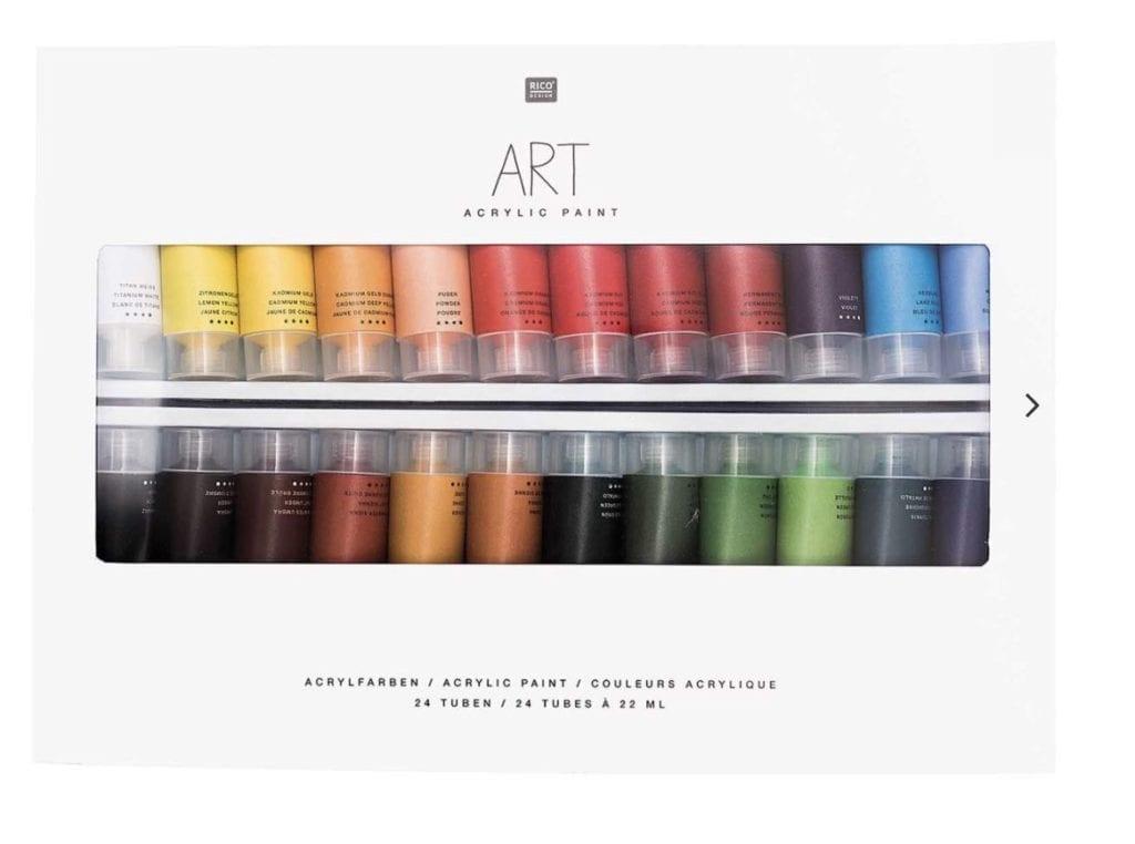 Du siehst Acrylfarben für Profis von Rico Design
