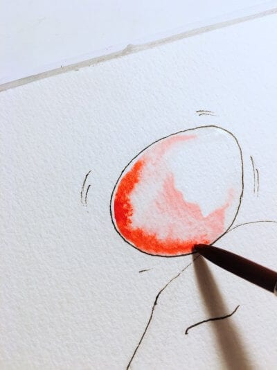 Man sieht eine Osterkarte mit Osterhasen der Künstlerin Dodo Kresse