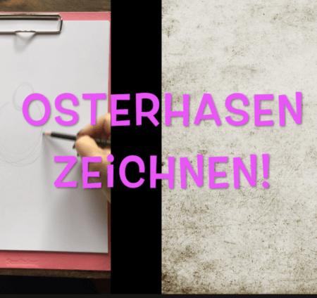 Man sieht in diesem Video, wie die Künstlerin Dodo Kresse einen Osterhasen zeichnet.