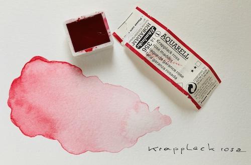 Hier sieht man das Farbnäpfchen Krapplack Rosa
