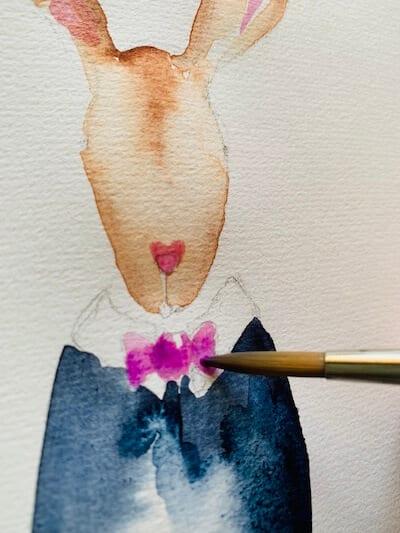 Man sieht wie Dodo die Masche in Rosa malt