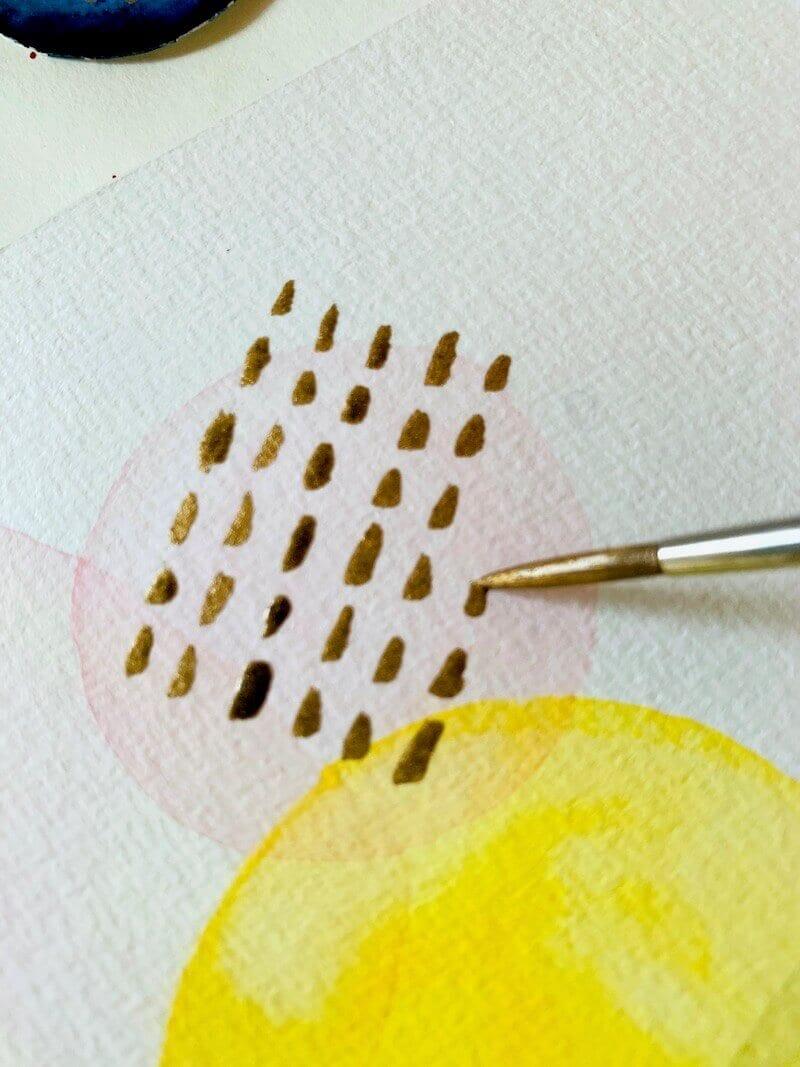 Hier siehst du ein abstraktes Muster auf dem Aquarell abstrakt von Dodo