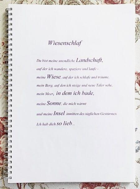 Du siehst das Gedicht Wiesenschlaf von dodo Kresse