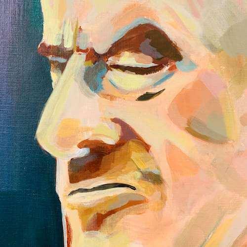 Du siehst ein Detail aus dem Portrait Krasser Typ