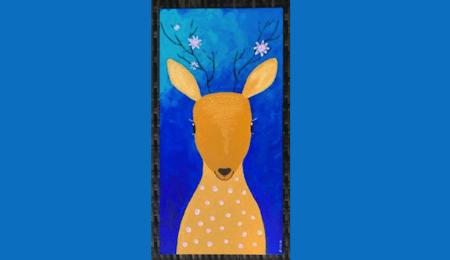du siehst ein Reh, gemalt mit Acrylfarben