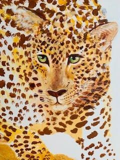 Du siehst das fertige Portrait des Leoparden