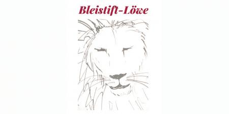 du siehst die Skizze eines Löwen mit Bleistift