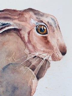 Ein Detail damit du die Augenmalerei der Ostergrüße besser sehen kannst