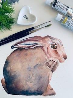 Das fertige Bild für die Ostergrüße