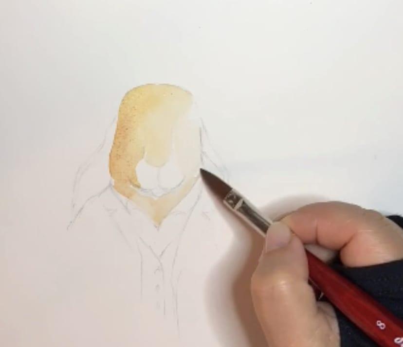 Du siehst Schritt 1 der Zeichnung Ottokar Osterhase