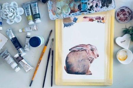 Du siehst das Coverbild meines Blogbeitrags Sebastian, der schüchterne Osterhase