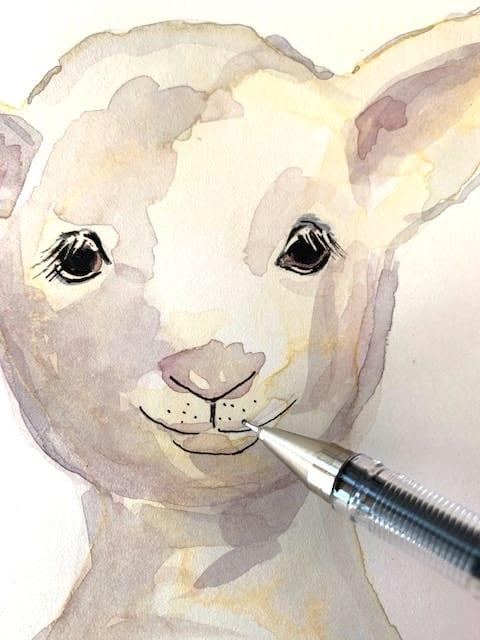 Details mit dem Tuschestift akzentuieren