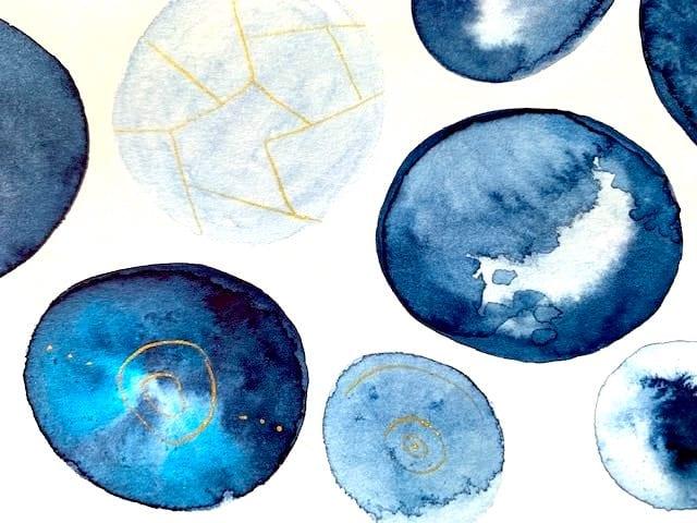 Wieder ein Detail aus dem Aquarellbild