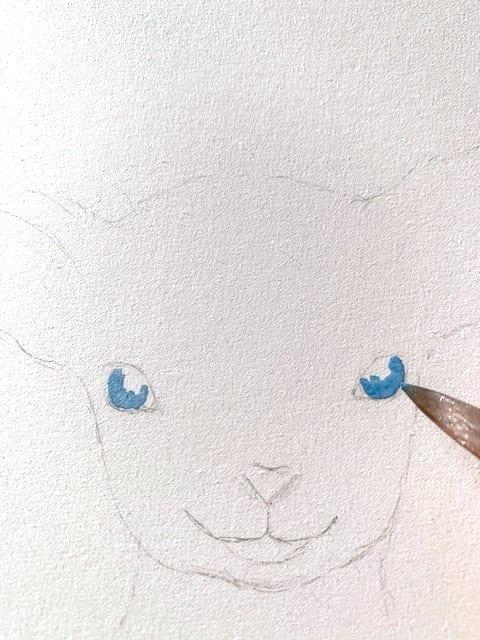 Hier siehst du wie ich die Iris des Auge male