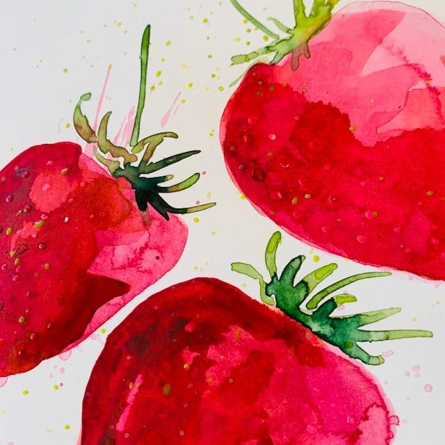 du siehst ein Detail der roten Fruechte