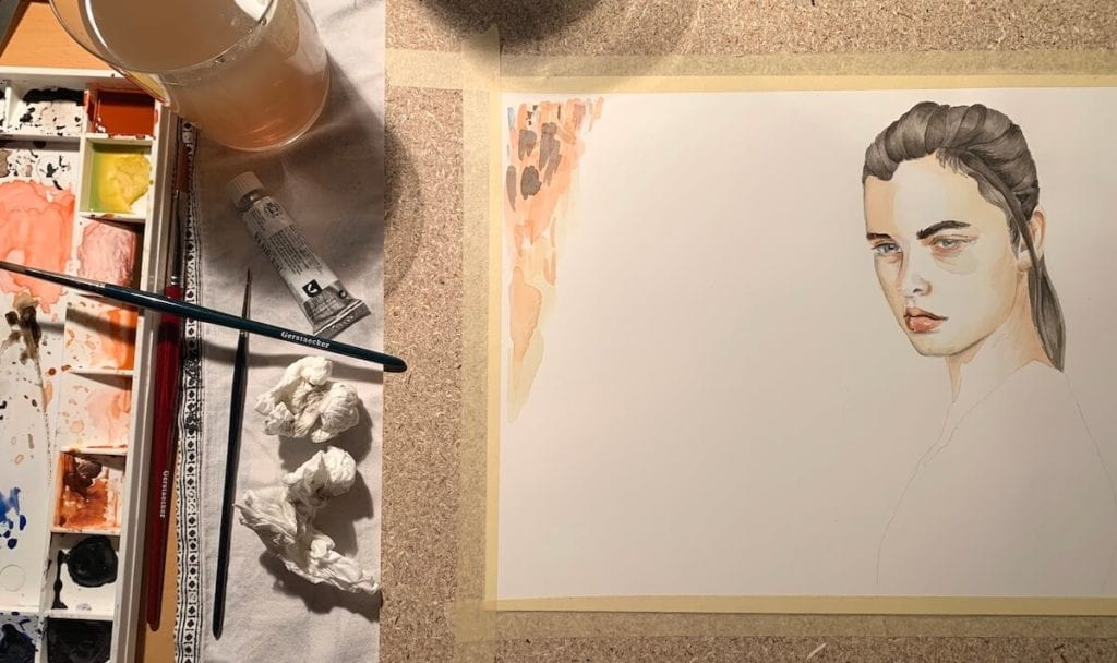 Coverbild für das Projekt Portraitmalen mit Lasuren