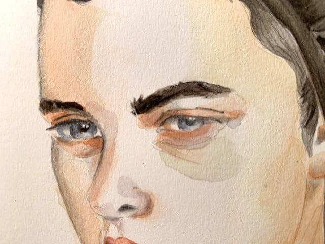 Detailansicht Porträtmalen