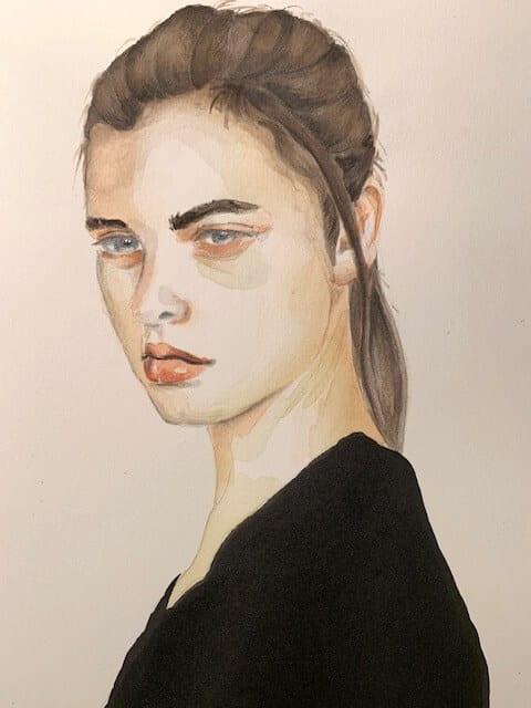 Lass dir Zeit beim Porträtmalen