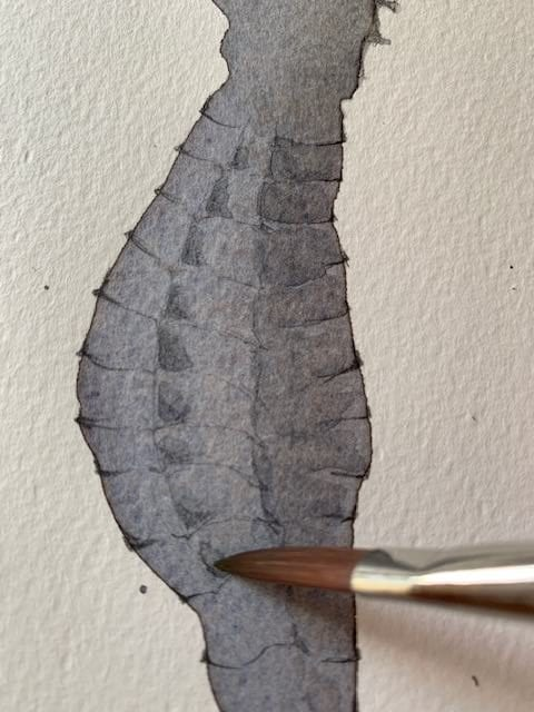 du kannst auch mit Aquarellfarbstiften zeichnen und anschließend mit Pinsel lasieren