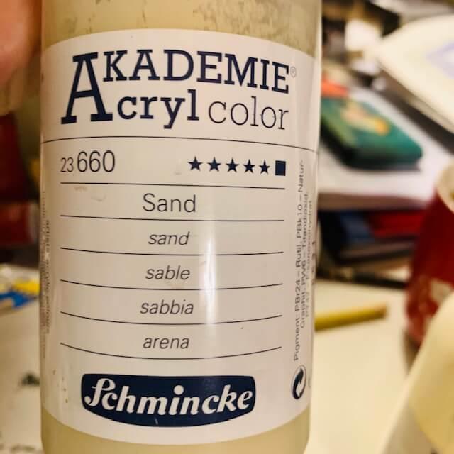 Sandfarbe von Schmincke