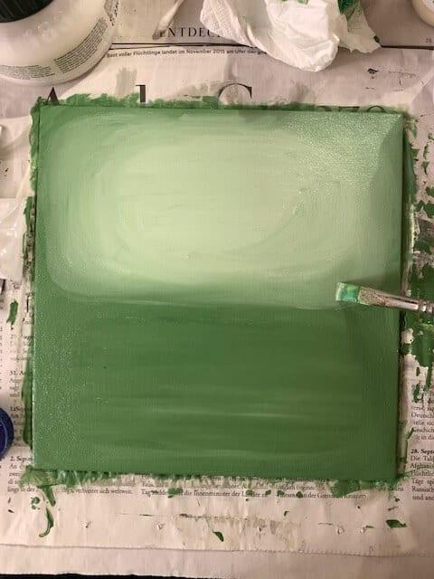 Grüne Farbflächen