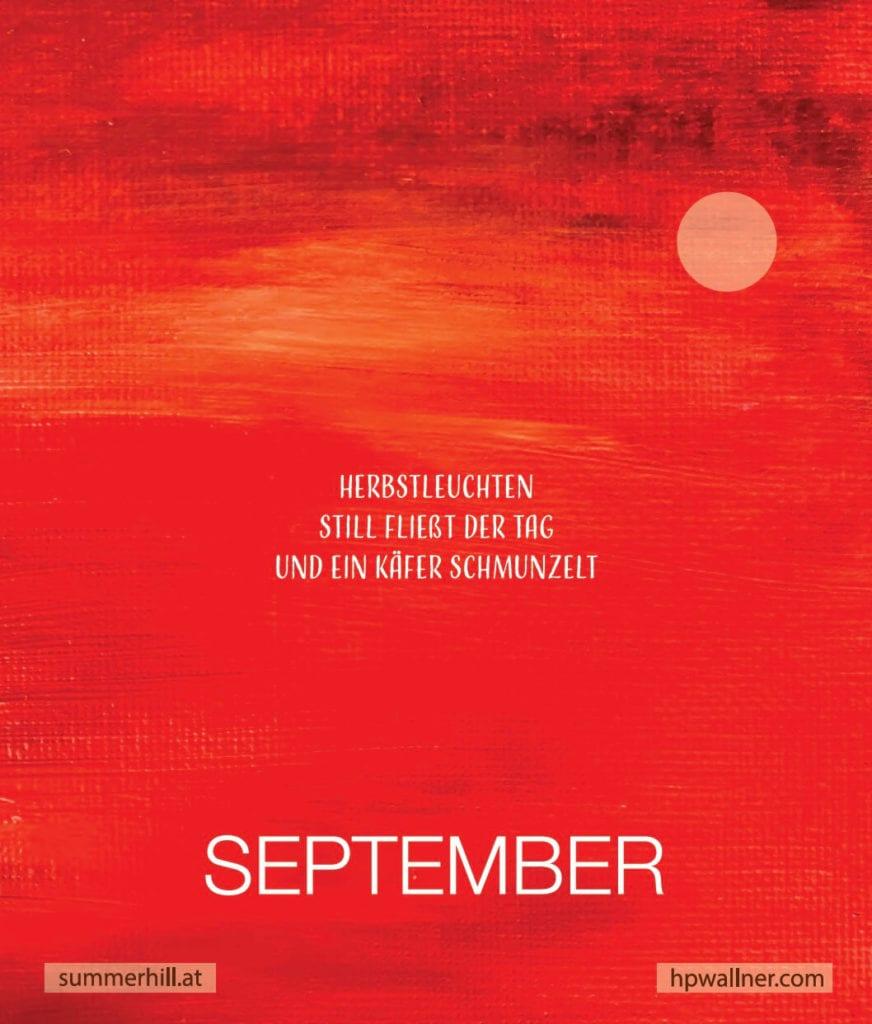 du siehst den Monat September