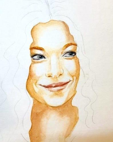 Du siehst die dritte Lasur auf dem Porträt von Marleen Lohse
