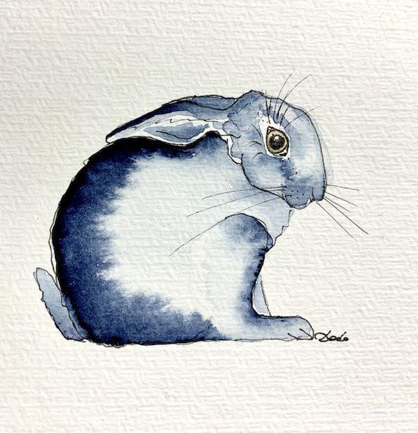 Das fertige Kaninchen-Bild