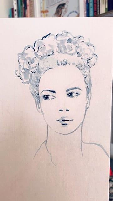 Vergrößerung des Porträts