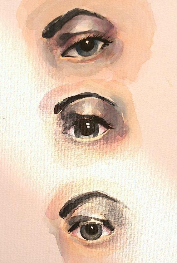 Hier siehst du die letzte Stufe des Mal-Tutorials Augen malen