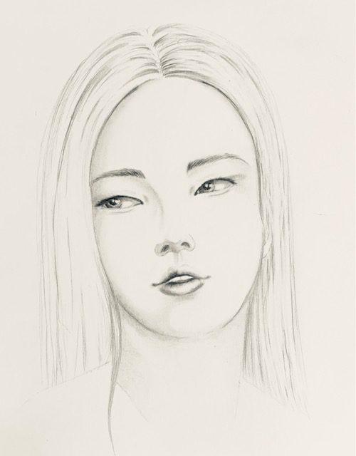 Hier siehst du das fertige Porträt des asiatischen Gesichts