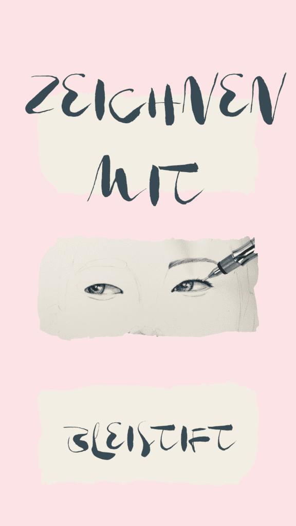 Pinterest Pin für das Gesicht Zeichnen mit Bleistift