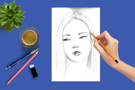 Du siehst das Coverbild zu dem Beitrag Gesicht zeichnen: Asiatisches Gesicht
