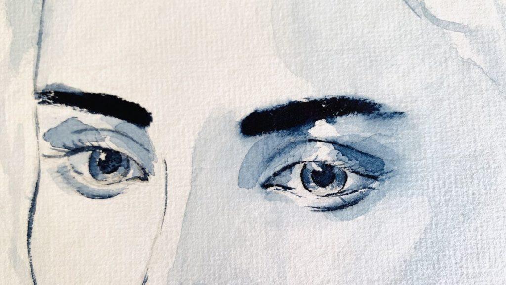 Du siehst die Augen des Mädchens